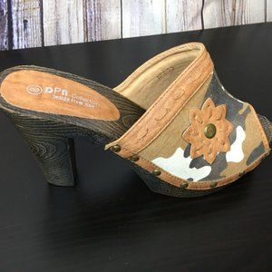 DPN Collection Heeled Clogs Open Toe